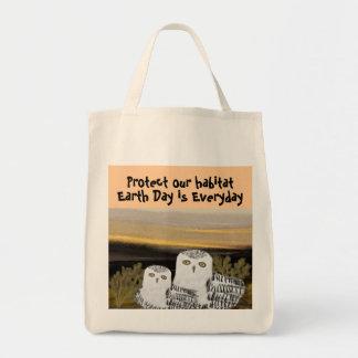 Snowy-Eulen-Lebensraum-Bio Einkaufstasche