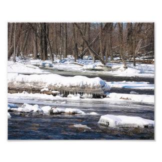 Snowy-Fluss in Wisconsin Fotografischer Druck