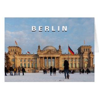Snowy Reichstag_01.03 (Reichstag im Schnee) Grußkarte