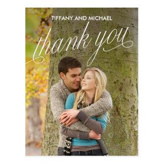 So dankbares Foto danken Ihnen zu kardieren Postkarte