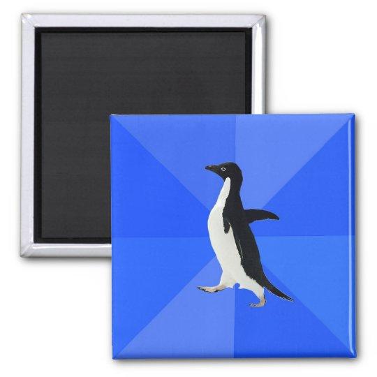 Socially Awkward Penguin. Quadratischer Magnet