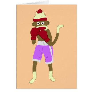 Socken-Affe-Boxer Karte