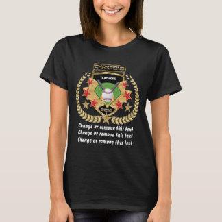 Softball-Baseball-Meister-Vordere-Zurück T-Shirt