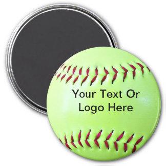 Softball-beschaffenmagnet, Keychain, Knopf Runder Magnet 7,6 Cm