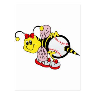 Softball-Biene Postkarte