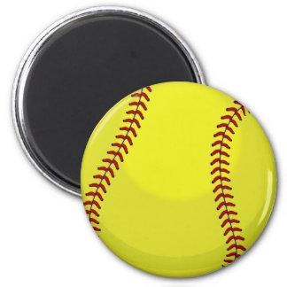 Softball-Fan Runder Magnet 5,1 Cm