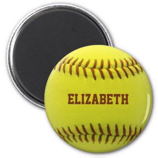 Softball-kundenspezifischer Ball-Magnet Runder Magnet 5,1 Cm