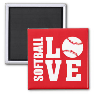 Softball-Liebe Quadratischer Magnet