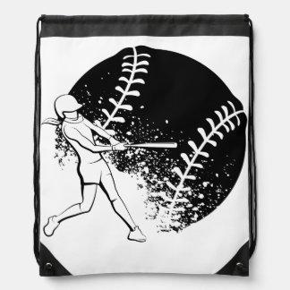 Softball-Teig mit Schmutz-Ball Turnbeutel
