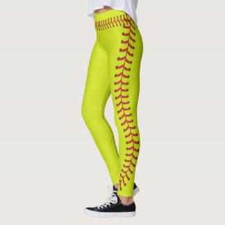 Softballball Naht näht Muster Leggings