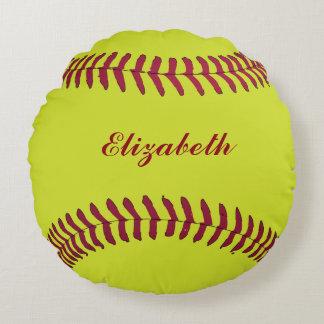 Softballball Sport-Spieler-Name fertigen besonders Rundes Kissen