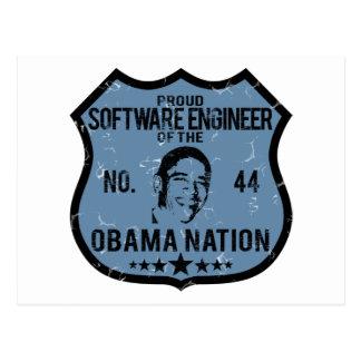 Software Engineer Obama-Nation Postkarte