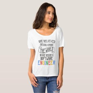 Software Engineer - sie glaubte, dass sie könnte T-Shirt
