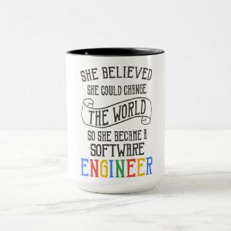 Software Engineer - sie glaubte, dass sie könnte Tasse