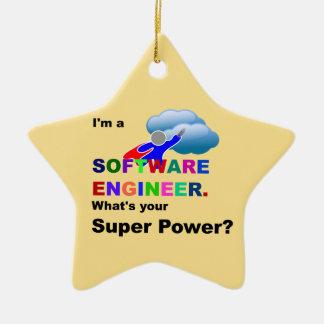 Software Engineer Superheld Keramik Stern-Ornament