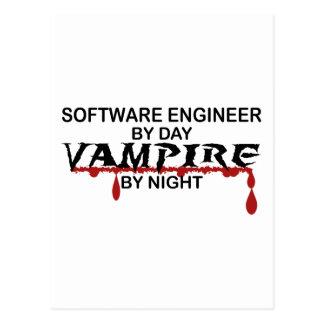 Software Engineer Vampir bis zum Nacht Postkarte