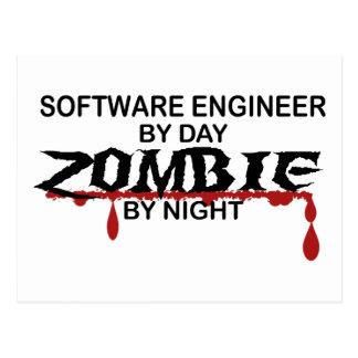 Software Engineer Zombie Postkarte