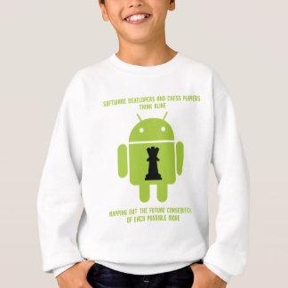 Softwareentwickler-Schach-Spieler denken Android Sweatshirt