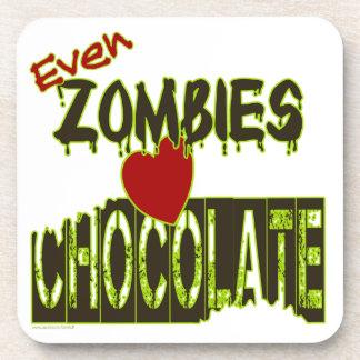 Sogar Zombie-Liebe-Schokoladen-Korken-Unterstützte Untersetzer