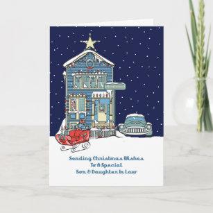 Weihnachtsgrüße An Sohn.Vintage Schwiegertochter Karten Zazzle At
