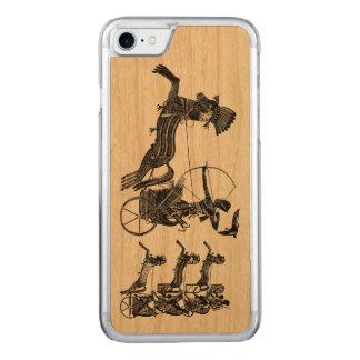 Sohn-Vintages Kunst iPhone Holz König-Ramesses II Carved iPhone 8/7 Hülle