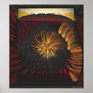 Solardrehbeschleunigung aus Feuer 4 2 heraus Poster