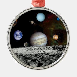 Solarsystemvoyager-Bildermontage-Raum-Fotos Silbernes Ornament