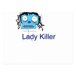 Solch eine Dame Mörder Postkarte