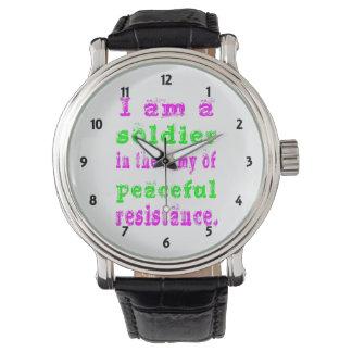 Soldat-Armee des friedlichen Widerstands Uhr
