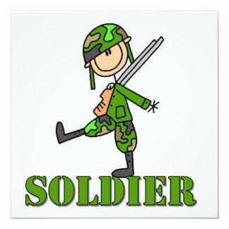 Soldat-Strichmännchen Personalisierte Ankündigungskarten