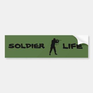 Soldatleben Autoaufkleber