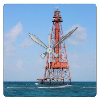 Sombrero-Schlüsselleuchtturm, Florida-Schlüssel Quadratische Wanduhr