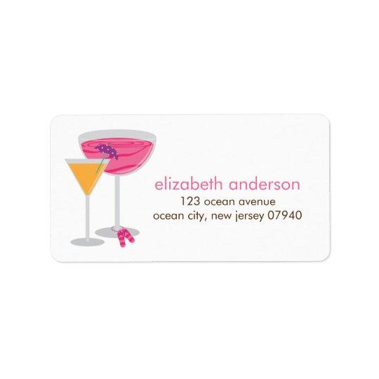Sommer-Cocktail-Adressen-Etiketten Adressaufkleber