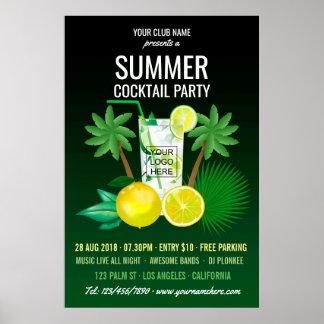 Sommer-Cocktail-Verein/UnternehmensParty Einladung Poster