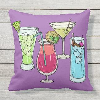 Sommer-Cocktail-Wurfskissen Kissen Für Draußen