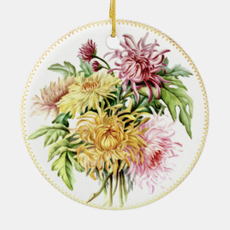 Sommer-Dahlie-Verzierung Rundes Keramik Ornament
