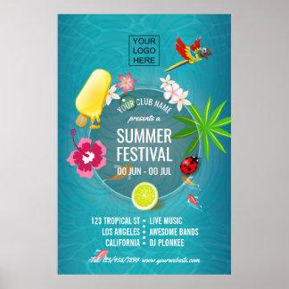 Sommer-Festival-Verein/Unternehmensanzeige Poster