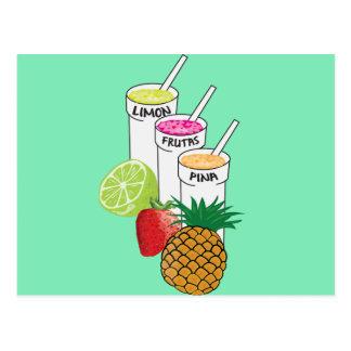 Sommer-Frucht Smoothie Postkarte