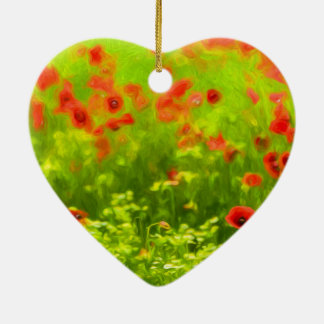 Sommer-Gefühle - wunderbare Mohnblumen-Blumen I Keramik Ornament