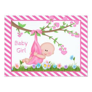 Sommer-Mädchen-Babyparty-Einladung 14 X 19,5 Cm Einladungskarte