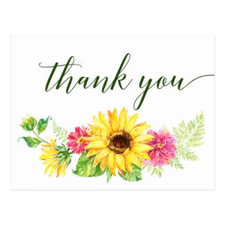 Sommer-Sonnenblume danken Ihnen Postkarte