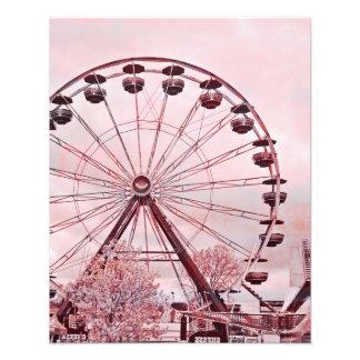 Sommer-Spaß-Rosa-Riesenrad-Kunst-Druck Fotodrucke