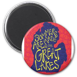 Sommer werden in den Great Lakes gemacht Runder Magnet 5,7 Cm