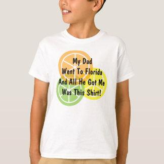 Sommer-Zitrusfrucht - Vati ging zu Florida - T-Shirt