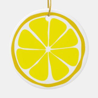 Sommer-Zitrusfrucht-Zitronen-Verzierung Keramik Ornament