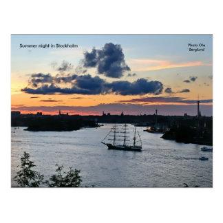 Sommernacht in Stockholm, Phot… Postkarte