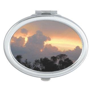 Sommersonnenuntergang in Canberra Taschenspiegel