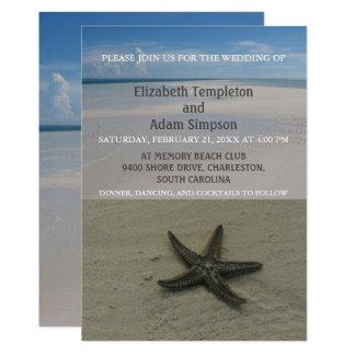 Sommerstarfish-Strand-Hochzeits-Einladungen Karte