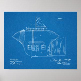 Sonderbare Flugzeug-Patent-Kunst des Poster