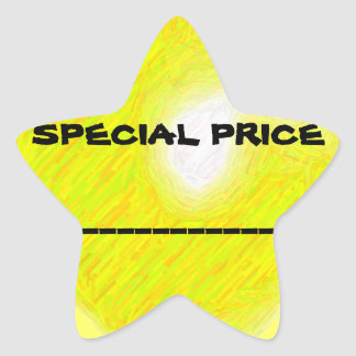 Sonderpreis-Aufkleber Stern Aufkleber